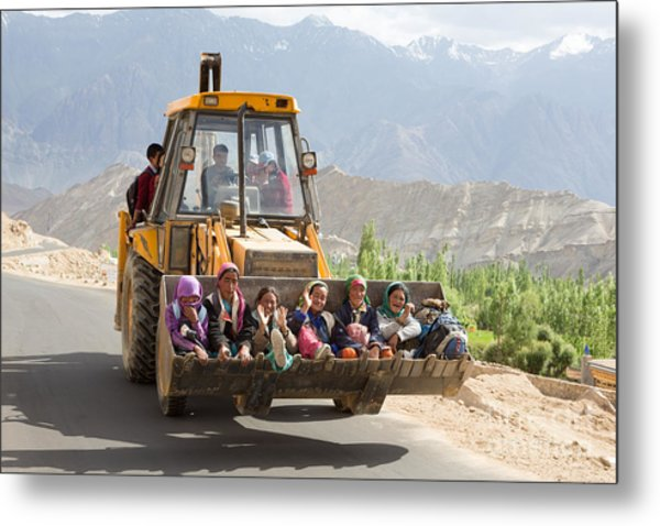 Transport In Ladakh, India Metal Print