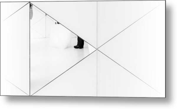 Trapped In A Mirror. Metal Print