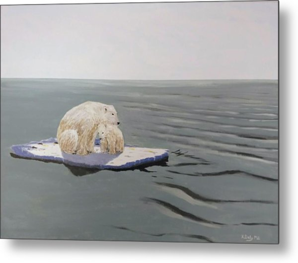 Metal Print featuring the painting Stranded by Kevin Daly