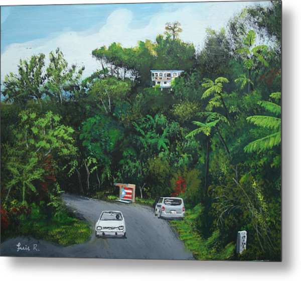 Traveling In Adjuntas Mountains Metal Print