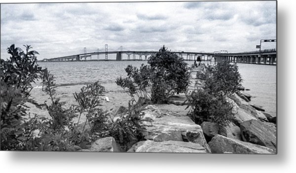 Metal Print featuring the photograph Traversing The Chesapeake by T Brian Jones