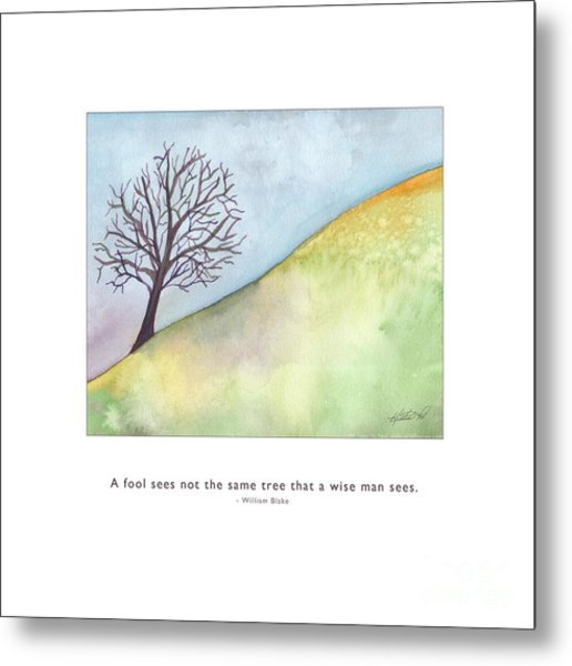 Metal Print featuring the painting Tree A Wise Man Sees by Kristen Fox
