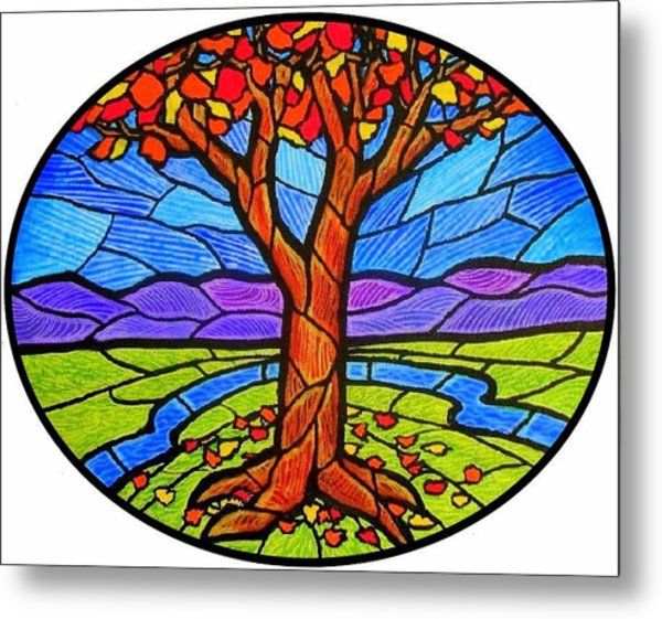 Tree Of Grace - Autumn Metal Print