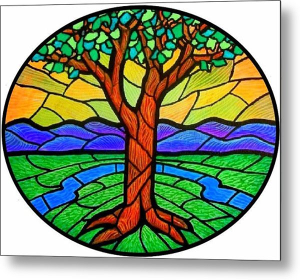 Tree Of Grace - Summer Metal Print
