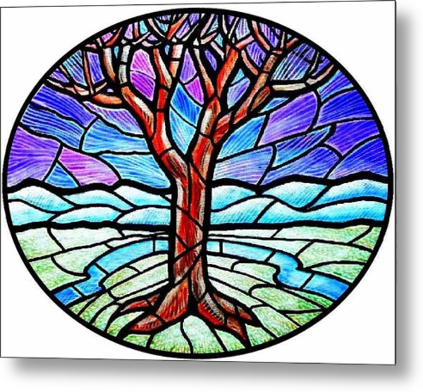 Tree Of Grace - Winter Metal Print