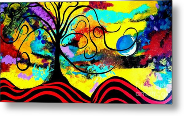 Tree Of Life Abstract Painting  Metal Print
