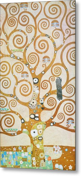 Metal Print featuring the painting Tree Of Life Detail by Gustav Klimt