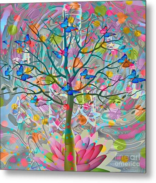 Metal Print featuring the digital art Tree Of Life by Eleni Mac Synodinos