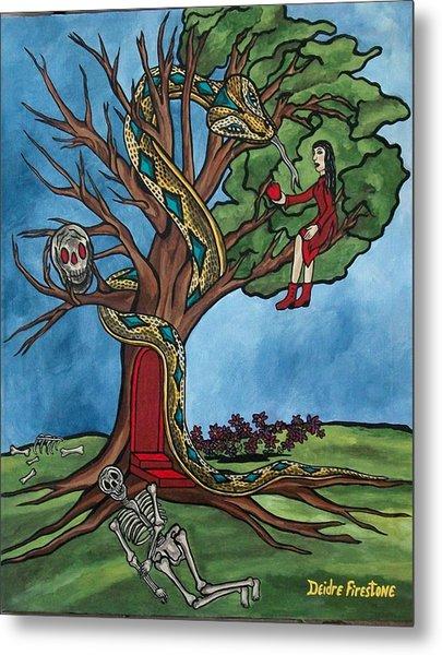Tree Of Life Temptation And Death Metal Print by Deidre Firestone