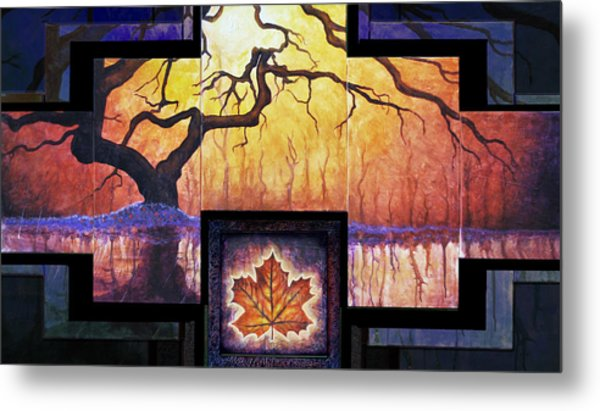 Tree Of Life The Giver Metal Print