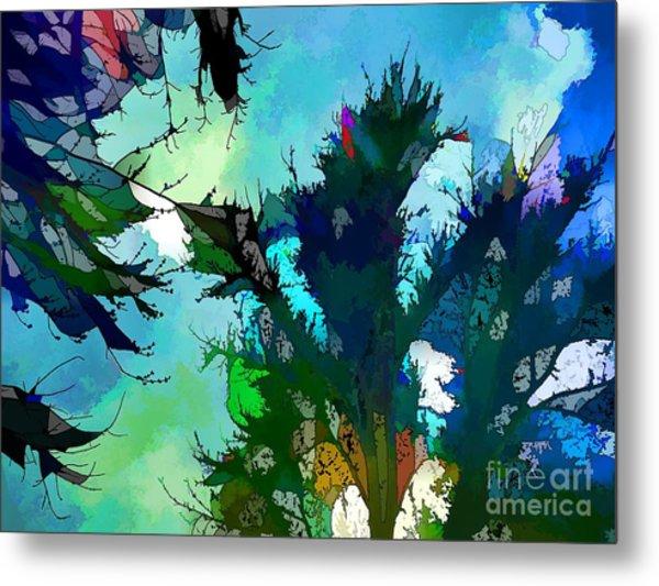 Tree Spirit Abstract Digital Painting Metal Print