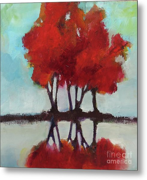 Trees For Alice Metal Print