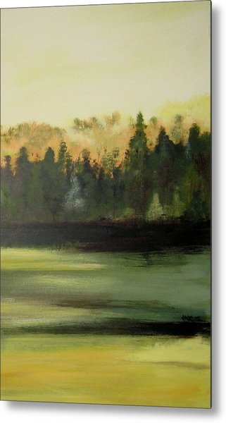 Trees In The Mist Metal Print by Marcia Crispino