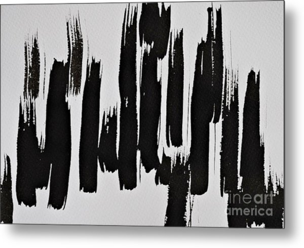 Trees In The Sand Metal Print