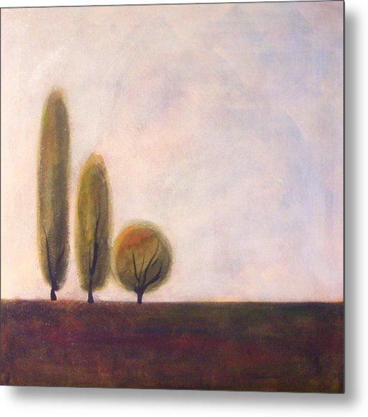 Trees Of Tuscany 2 Metal Print by Victoria Heryet