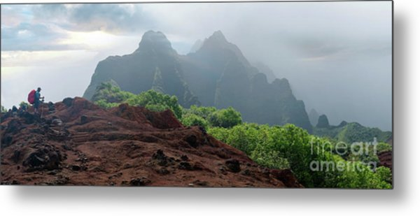 Trek Thru Kalalau Metal Print by RJ Bridges