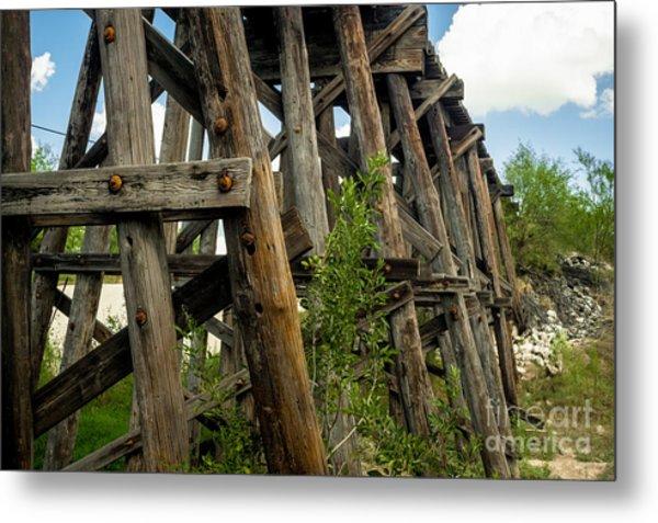 Trestle Timber Metal Print