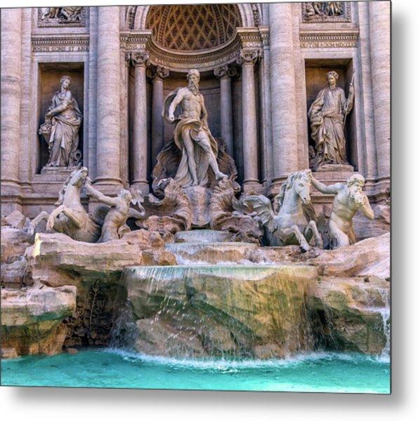 Trevi Fountain, Roma, Italy Metal Print