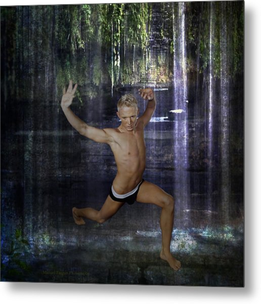 Metal Print featuring the photograph Trevor - Jungle Warrior by Michael Taggart