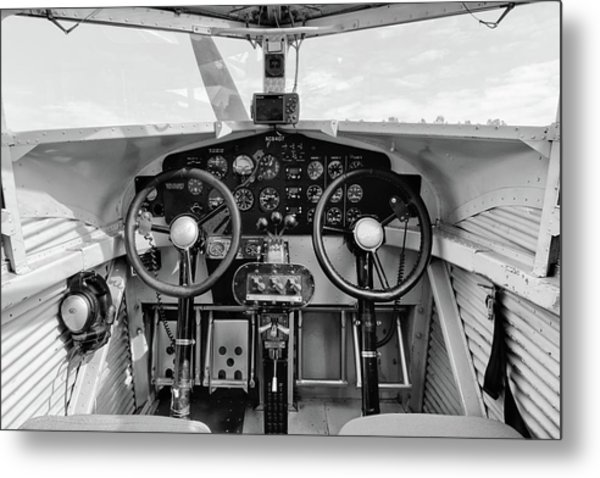 Tri-motor Cockpit - 2017 Christopher Buff, Www.aviationbuff.com Metal Print
