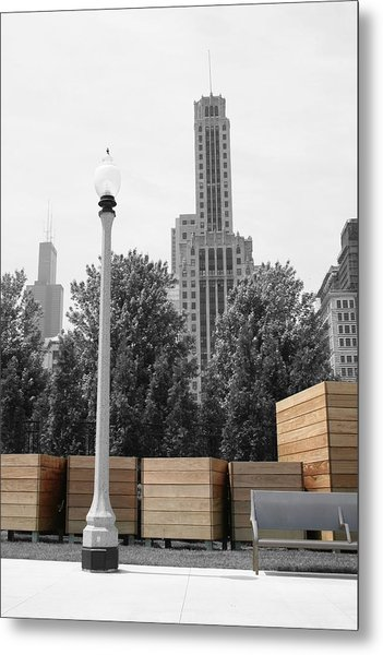 Metal Print featuring the photograph Tri Towers by Dylan Punke