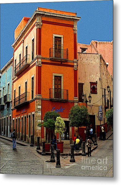 Triangle Corner Metal Print by Mexicolors Art Photography