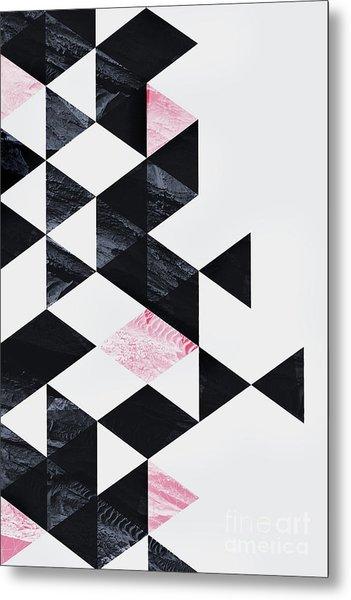Triangle Geometry Metal Print