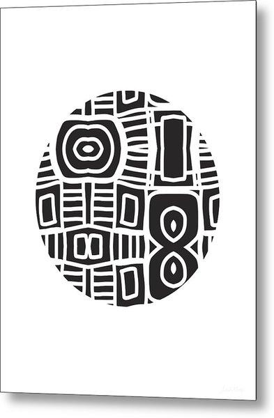 Tribal Ball- Art By Linda Woods Metal Print