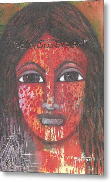 Tribal Woman Metal Print