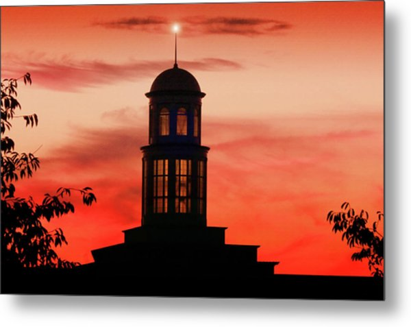 Trible Library Dome At Christopher Newport University Metal Print