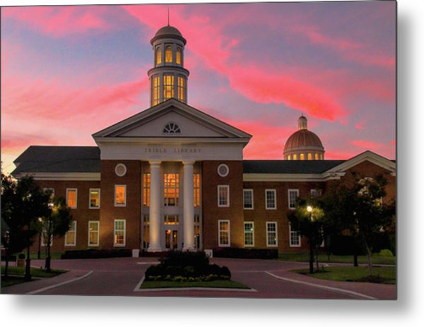 Trible Library Pastel Sunset Metal Print