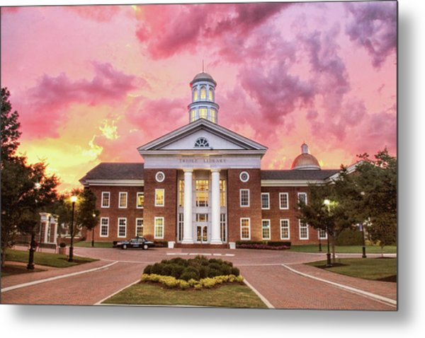 Trible Library Under A Crayola Sky Christopher Newport University  Metal Print