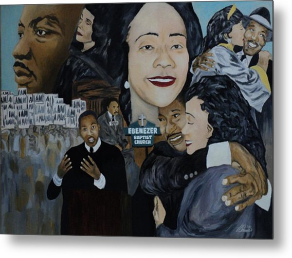 Tribute To Dr Martin Luther King Jr Metal Print by Angelo Thomas