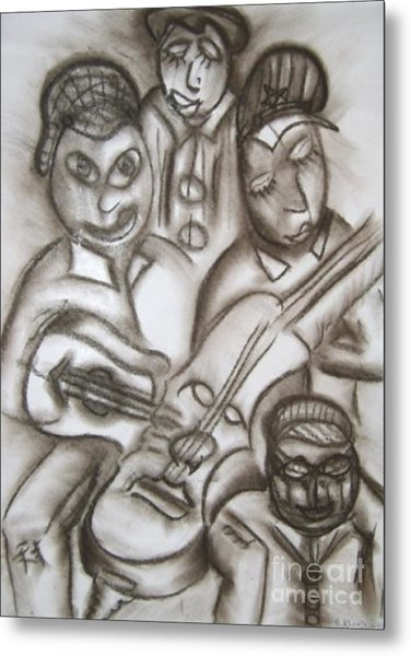 Tribute To The String Bass Metal Print