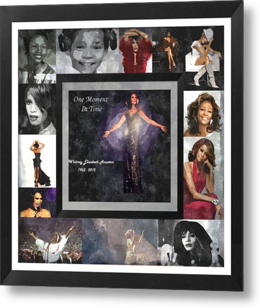 Tribute Whitney Houston One Moment In Time Metal Print