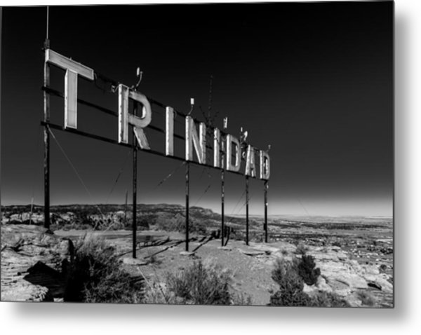 Trinidad Colorado Sign Simpsons Rest Metal Print