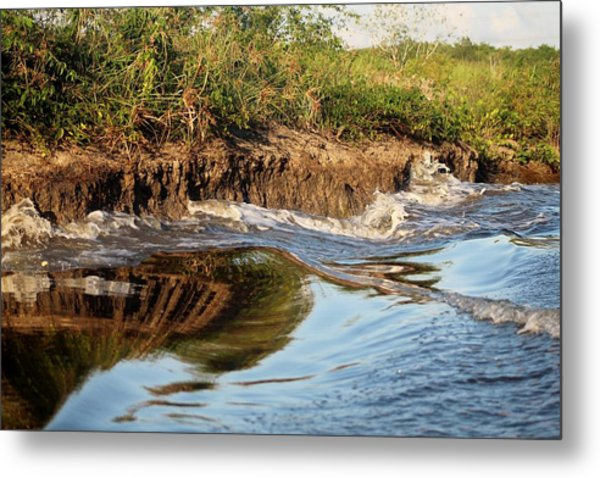 Trinidad Water Reflection Metal Print