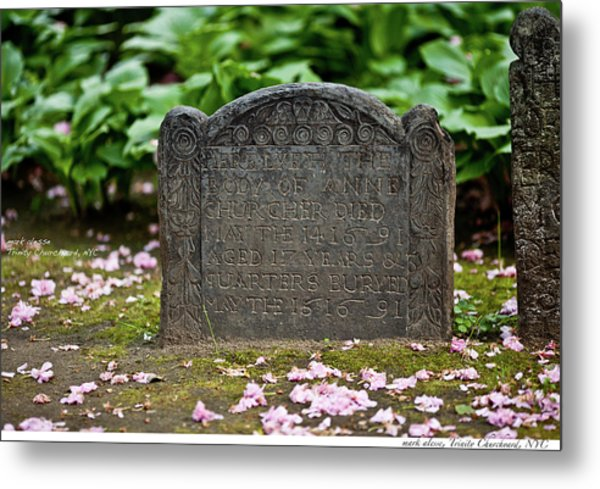 Trinity Church Tombstone Metal Print