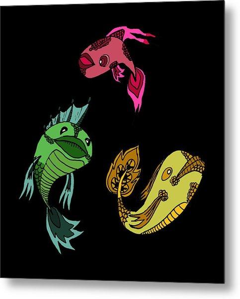 Trio Fish Metal Print