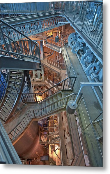 Metal Print featuring the photograph Triple Steam Stairs 2 by Rick Hartigan