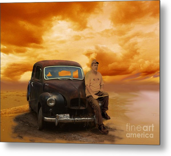 Trippin' With My '48 Austin A40 Metal Print