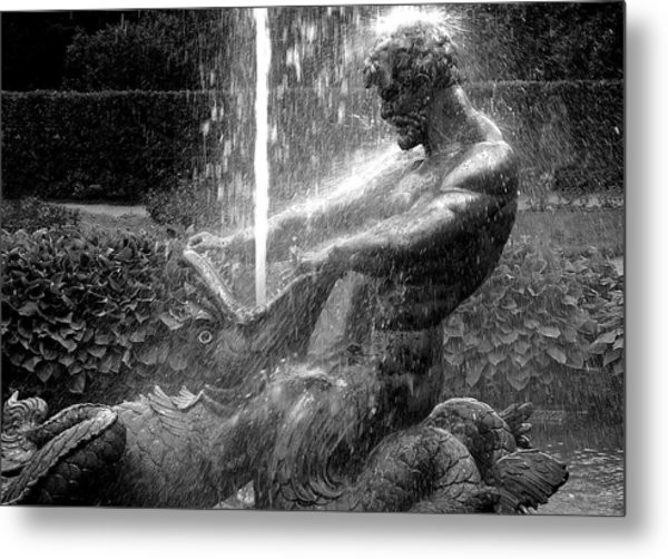 Triton Fountain Metal Print
