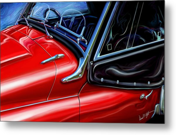 Triumph Tr-3 Sports Car Detail Metal Print