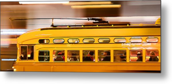 Trolley 1052 On The Move Metal Print