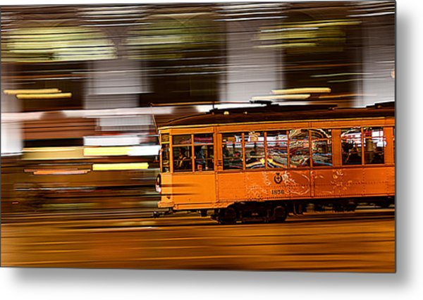 Trolley 1856 On The Move Metal Print