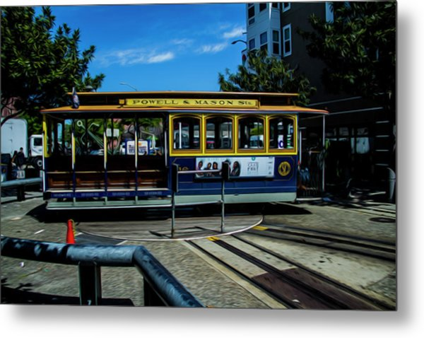 Trolley Car Turn Around Metal Print