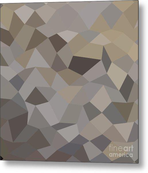 Trolley Grey Abstract Low Polygon Background Metal Print by Aloysius Patrimonio