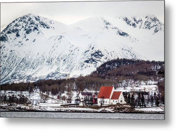 Trondenes Church Harstad Norway Metal Print
