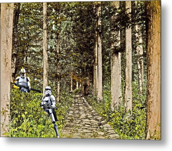 Troopers On The Planet Metal Print