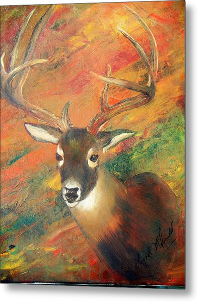 Trophy Deer Metal Print by Lynda McDonald